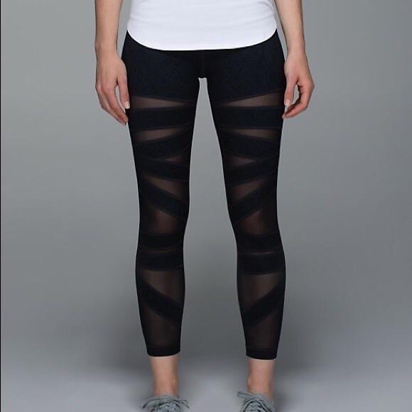 6921917c9c lululemon athletica Pants - Lululemon Black High Times Tech Mesh Crop  Leggings